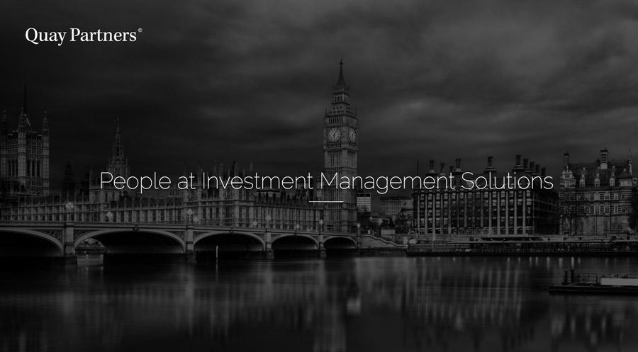 People at investment management solutions